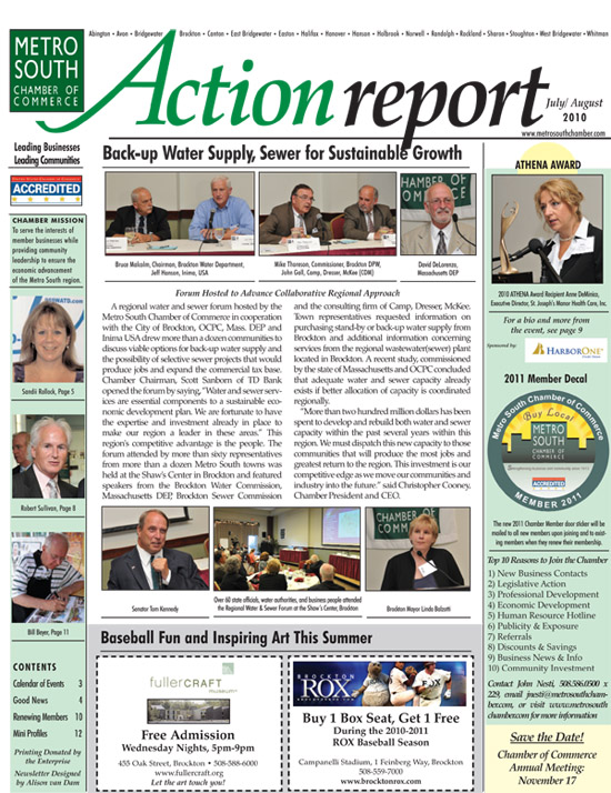 july/august 2010 Action Report Cover