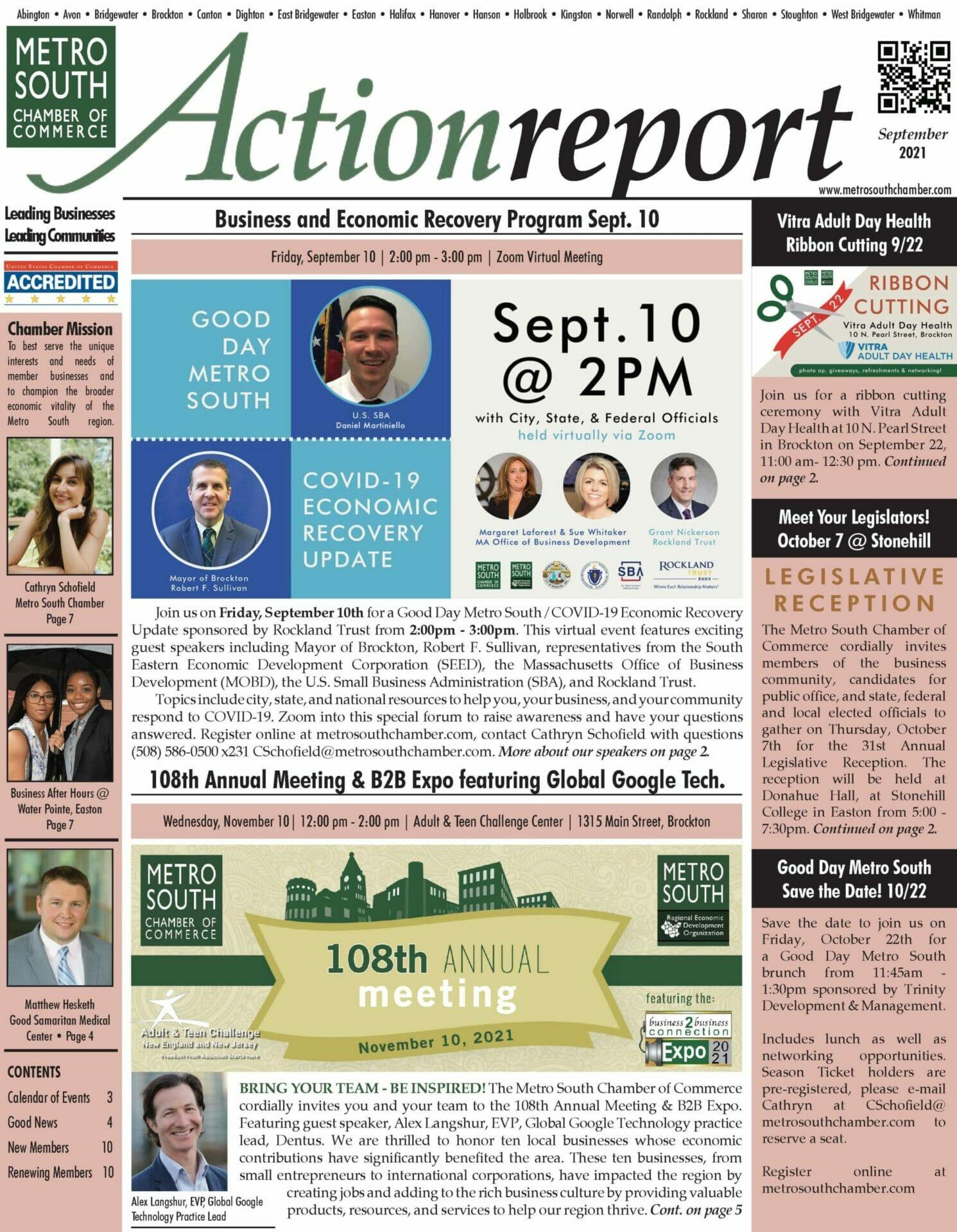 september 2021 action report newsletter front cover